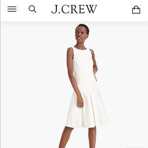 J.Crew Sleeveless A-line dress in structured linen